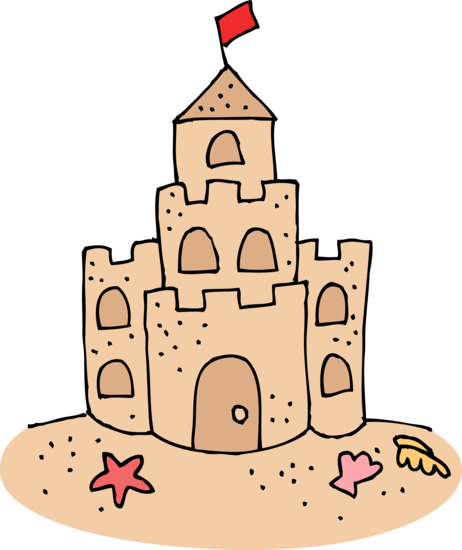 png library library sand castle clipart black and white #59048370