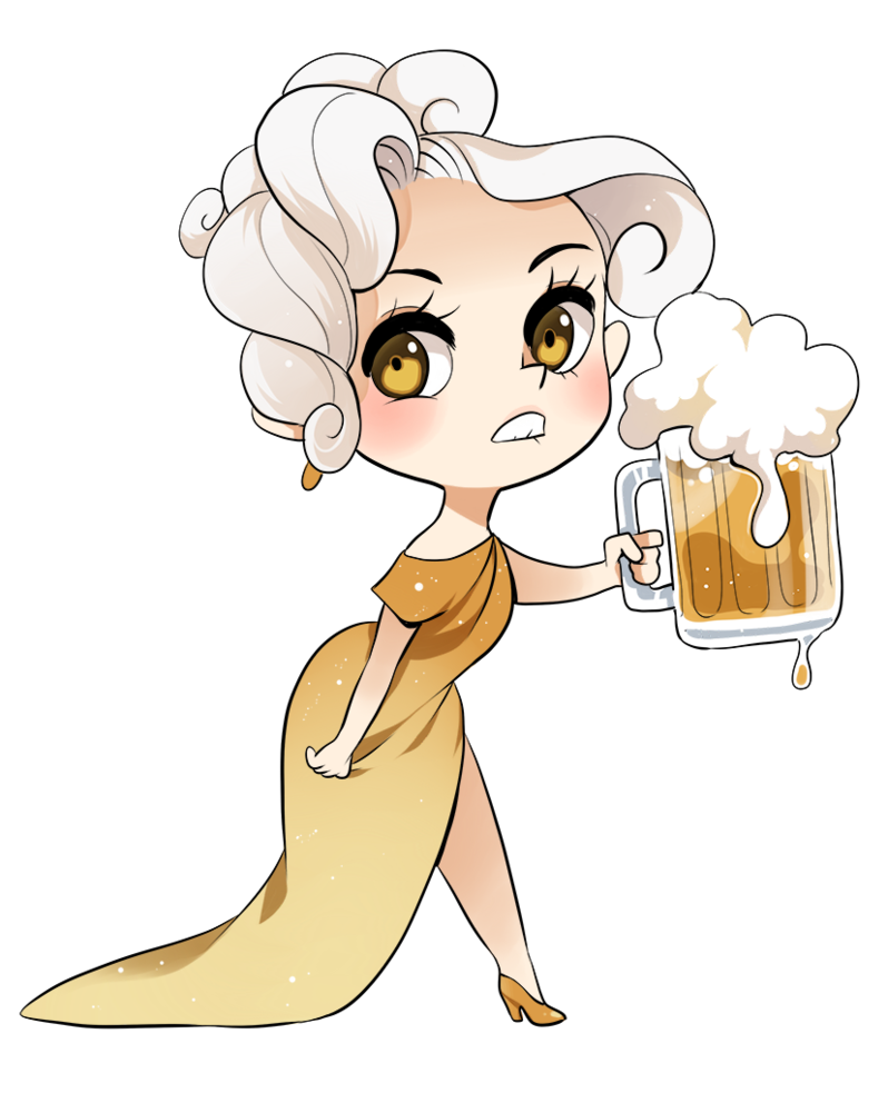 picture royalty free download Beer chan by meago. Adorable drawing