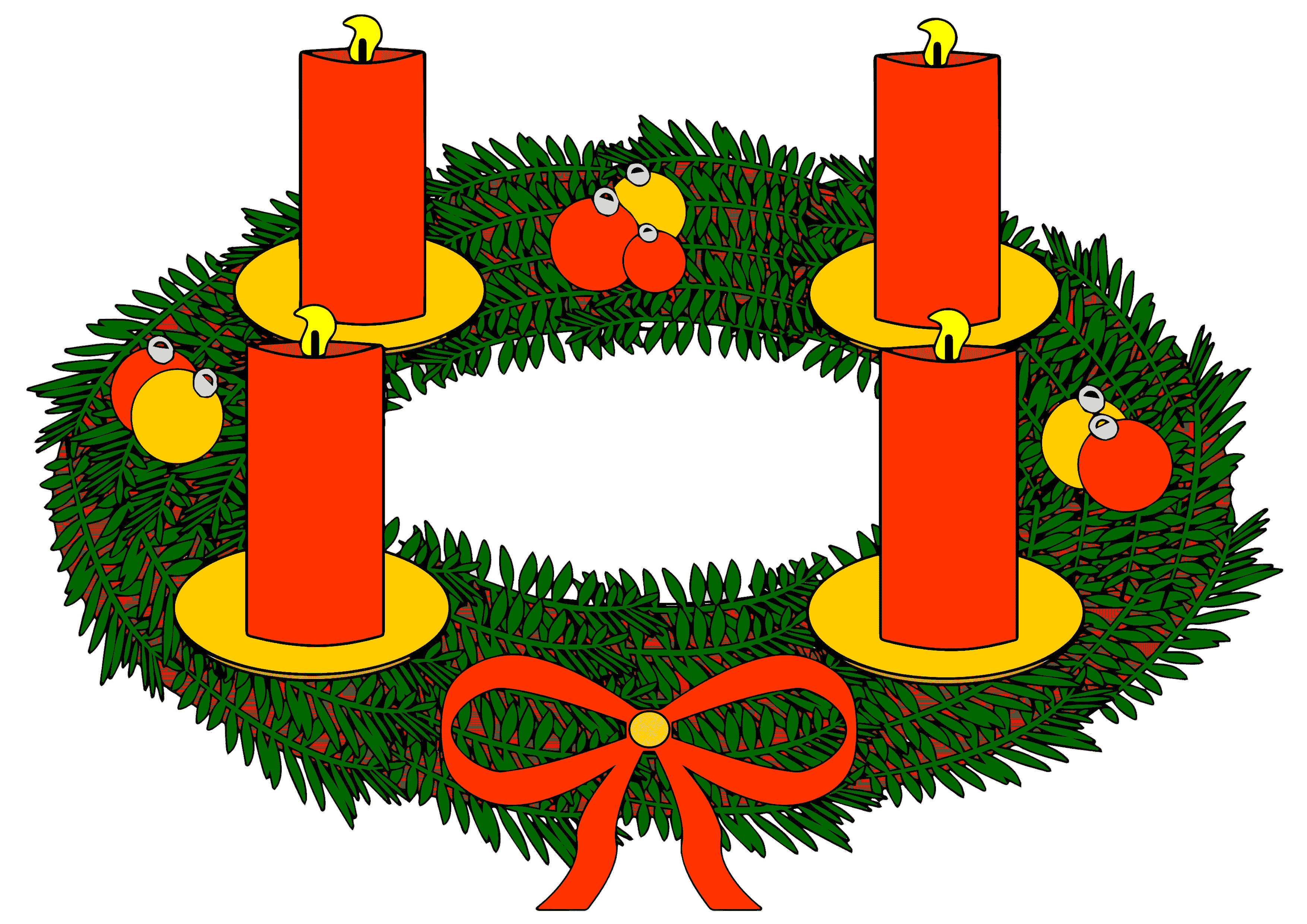 banner royalty free download Advent wreath clipart free.  collection of adventskranz