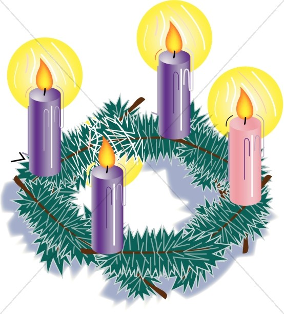 graphic black and white library Advent clipart. Christmas candles .