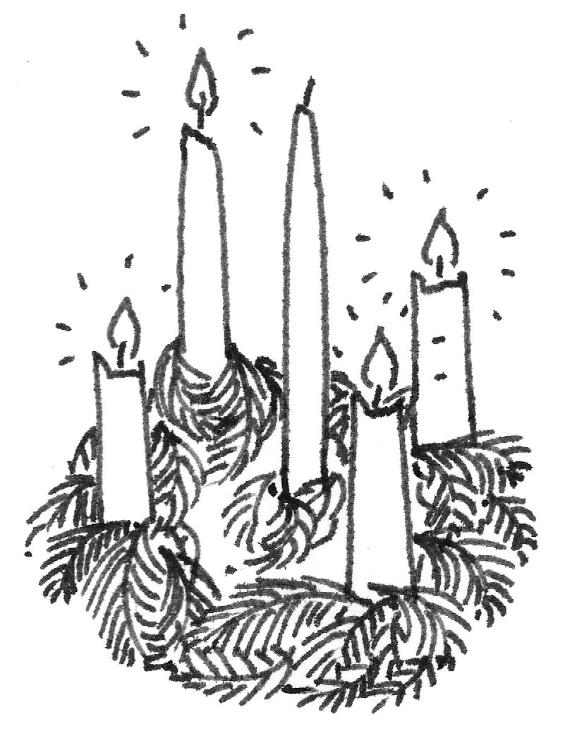 png royalty free stock Advent wreath clipart black and white. Clip art clipartpost