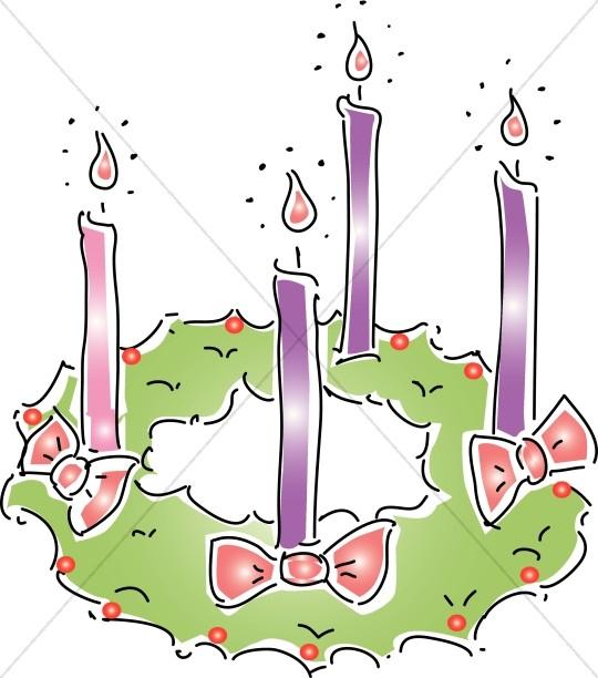 jpg royalty free stock Christmas . Advent wreath clipart