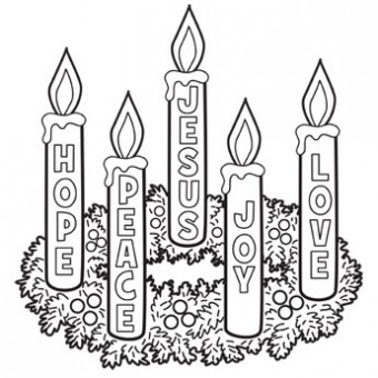 clipart freeuse library Advent wreath clipart black and white. Free cliparts download clip