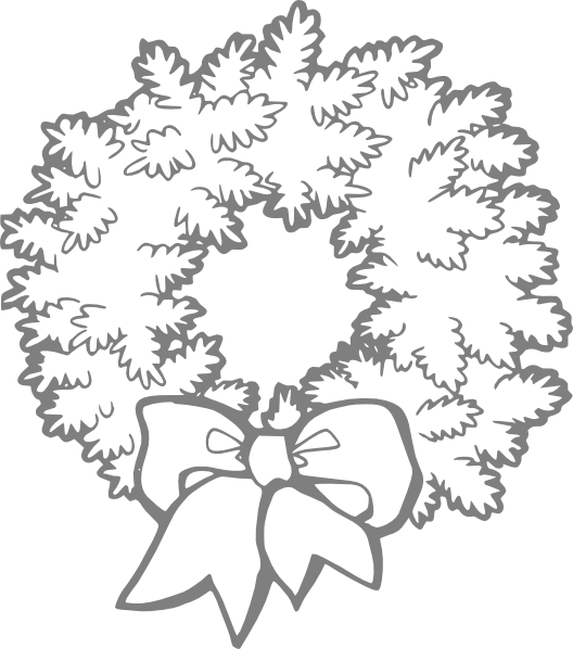 clipart transparent download Wreath clipart black and white. Clip art at clker