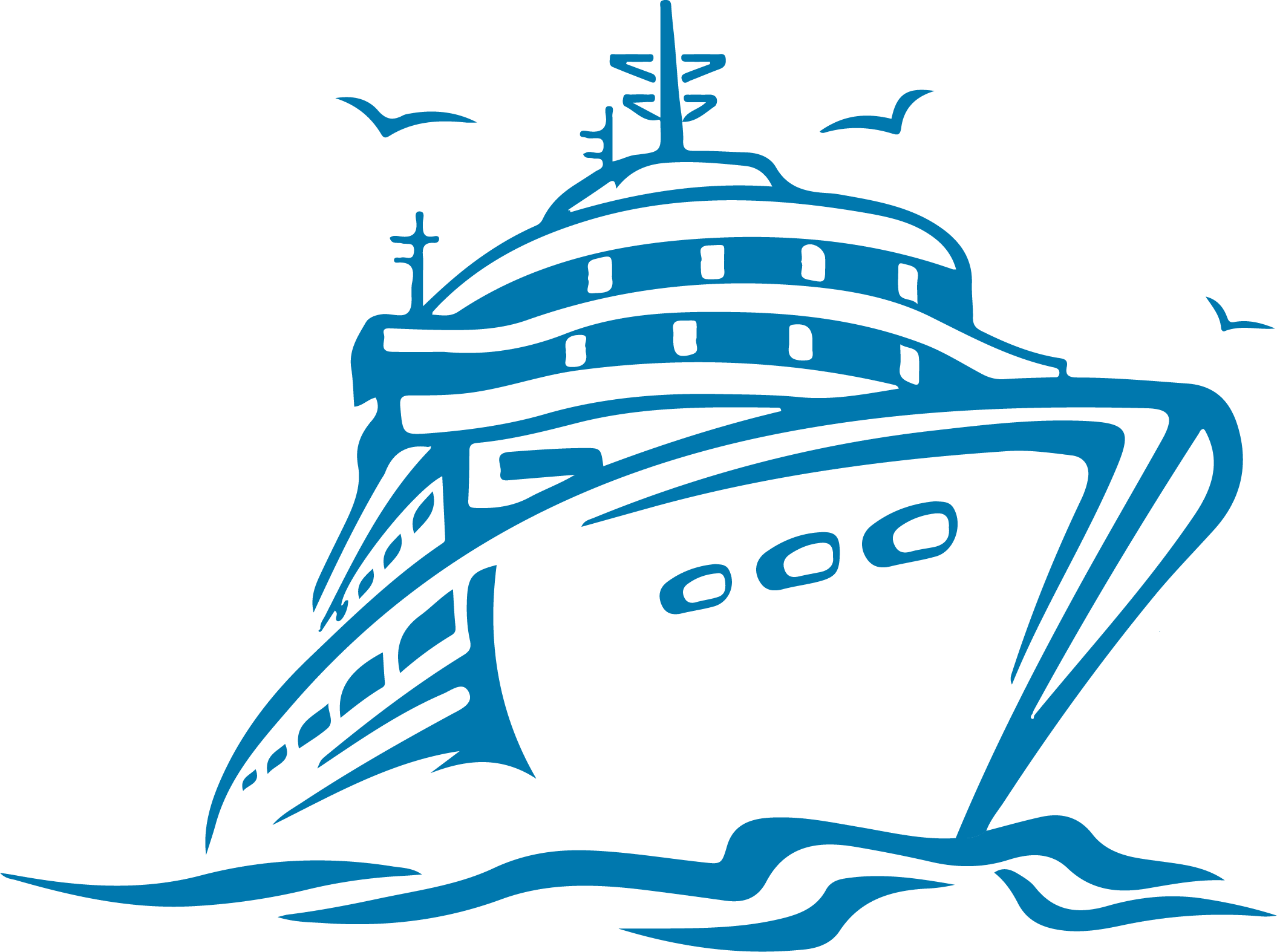clipart royalty free library Aida ship schedule and. Cruise clipart