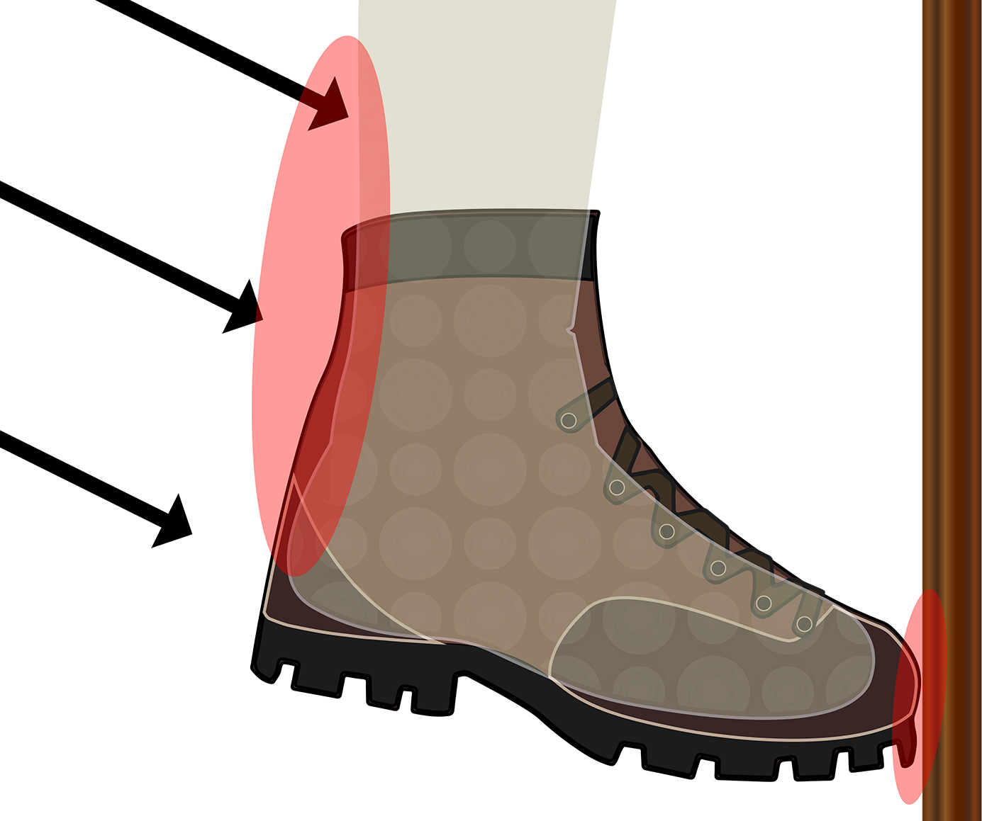 freeuse stock Hiking tread free on. Adventure clipart boot