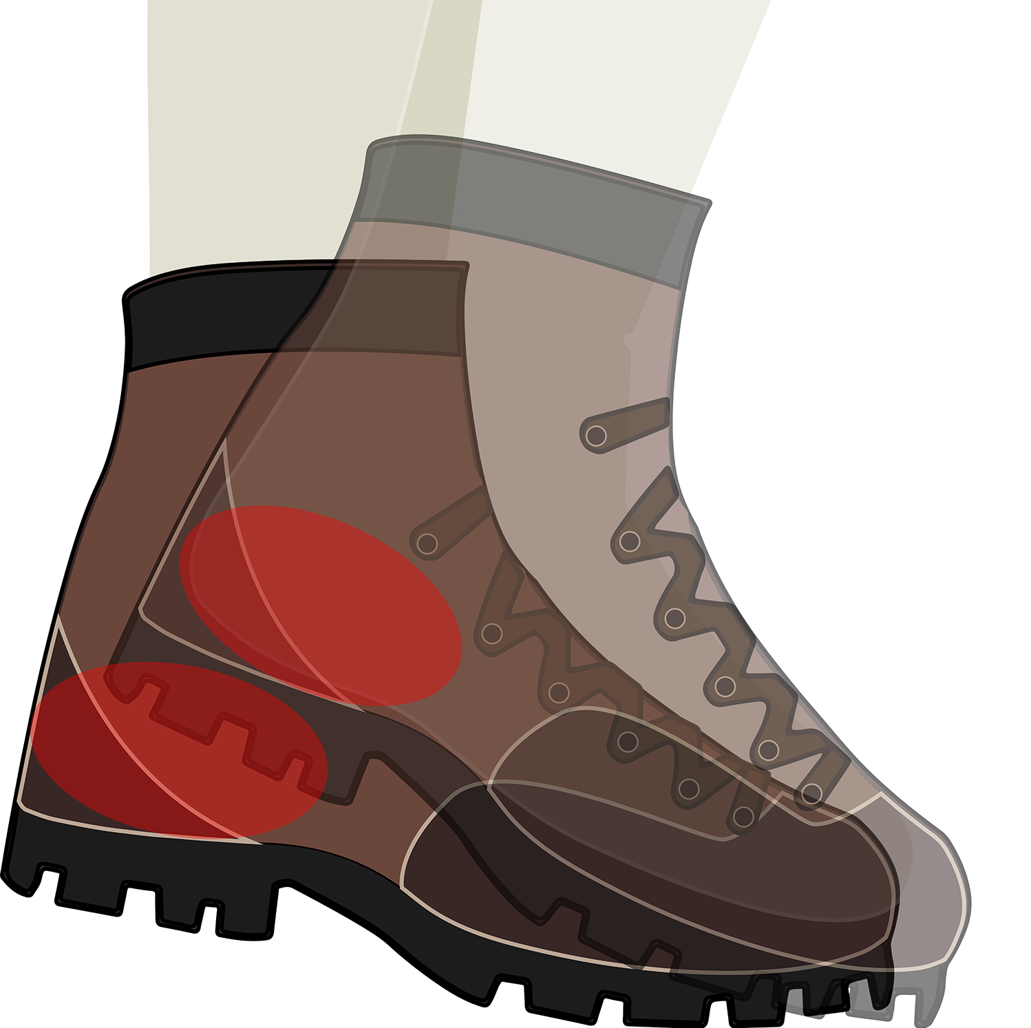 freeuse stock Adventure clipart boot. Hiking tread free on