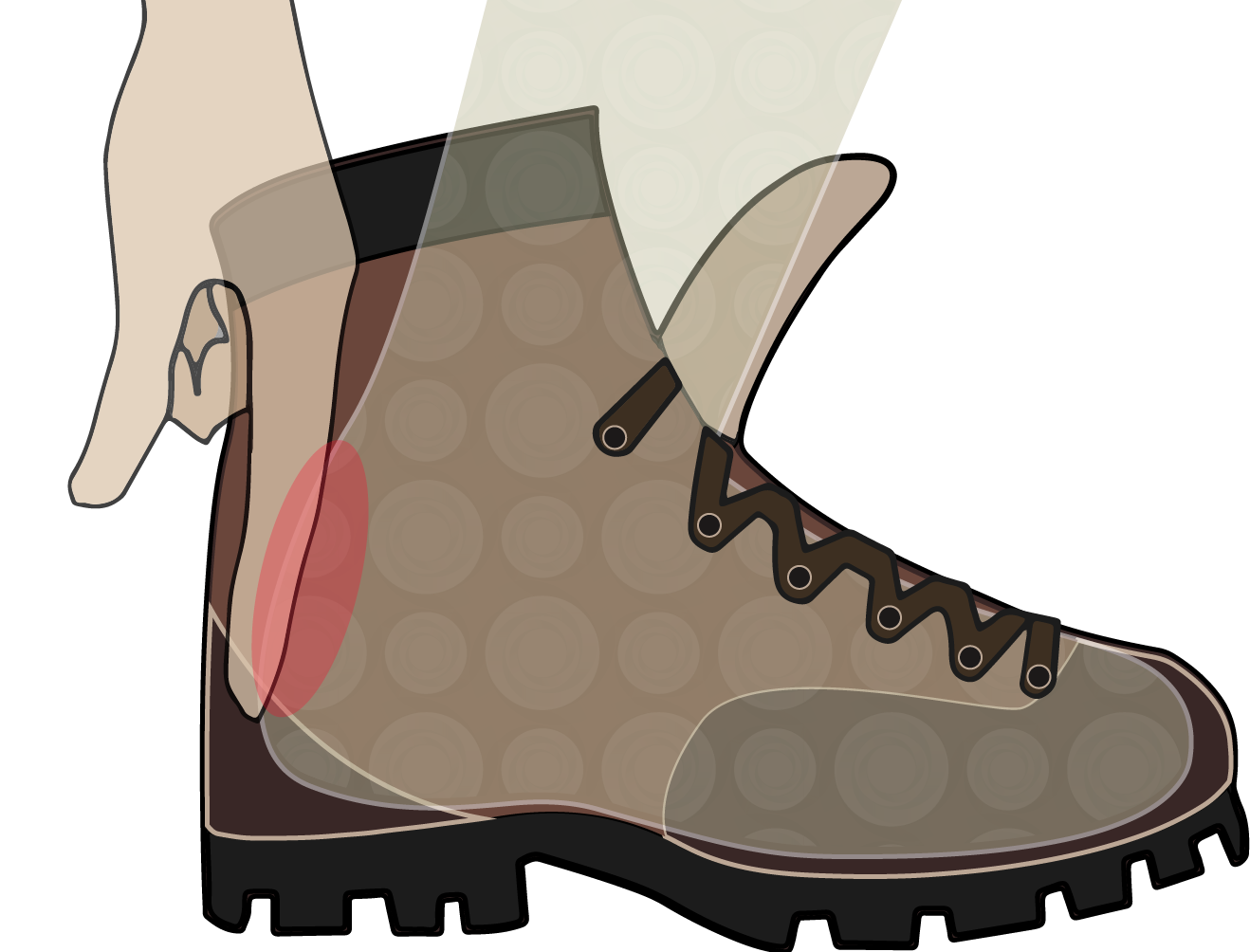 vector black and white library Hiking boot tread free. Boots clipart wet shoe.