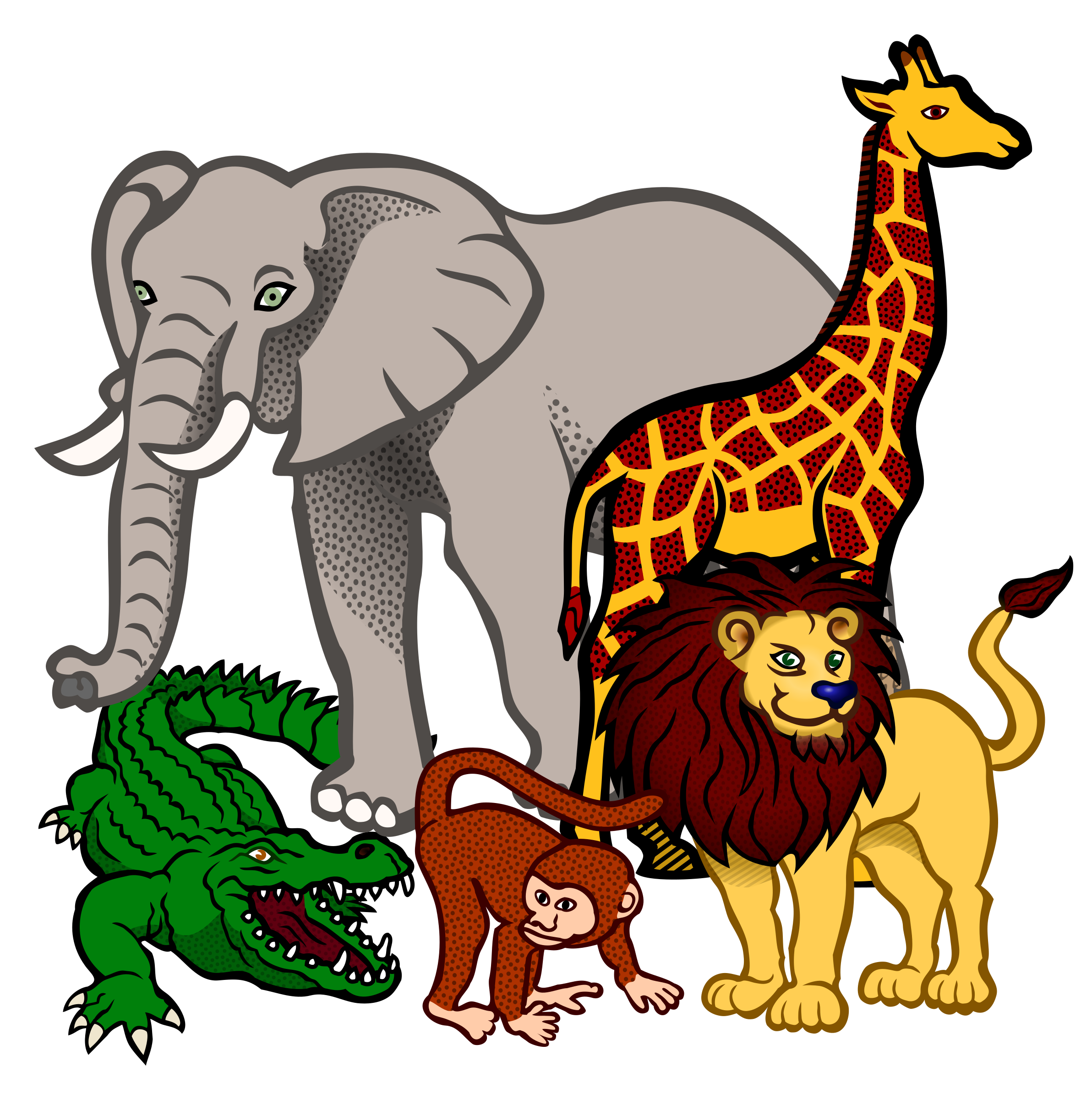 png library library Animals coloured big image. African clipart animal african