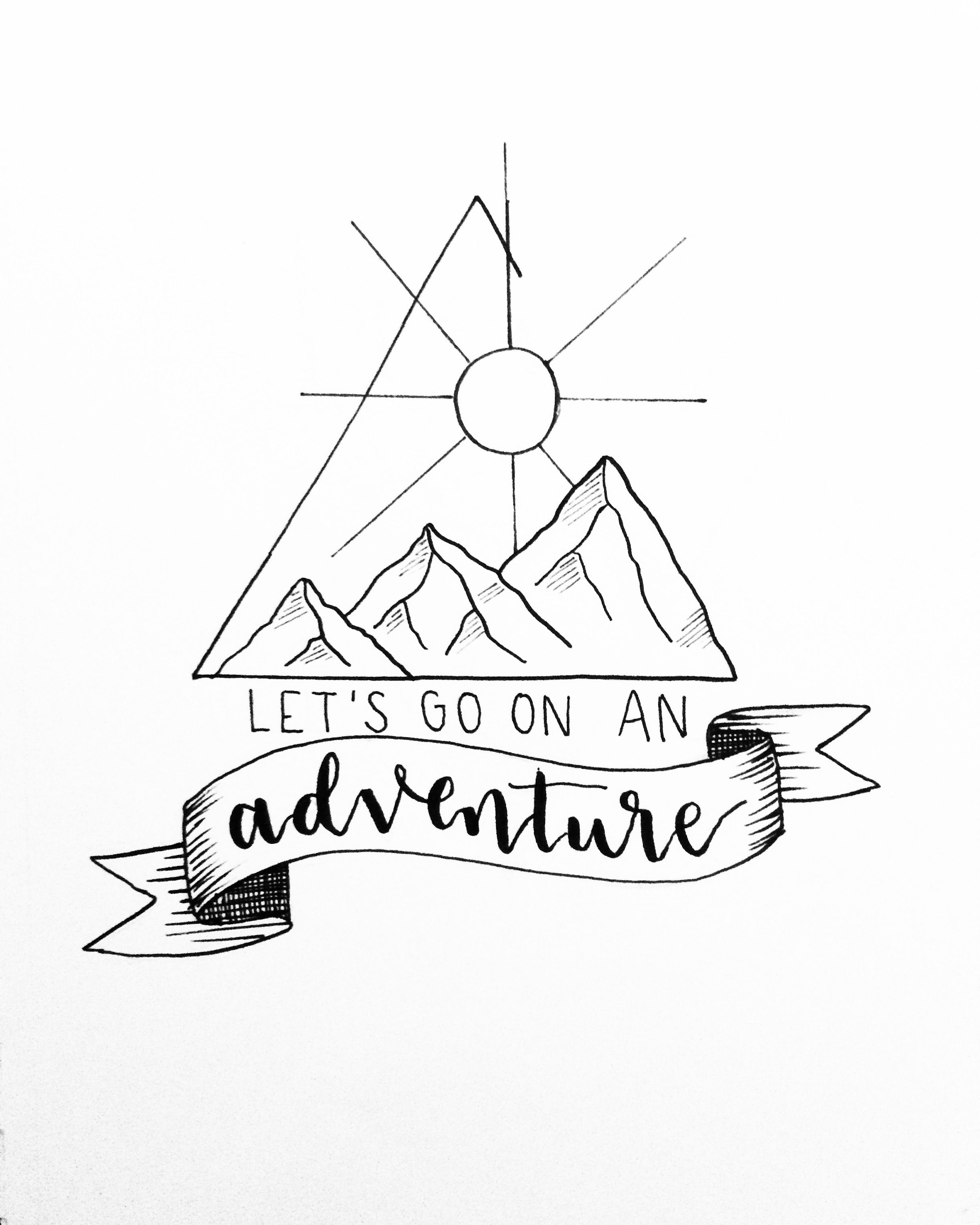 picture library library Let s go on. Adventure drawing