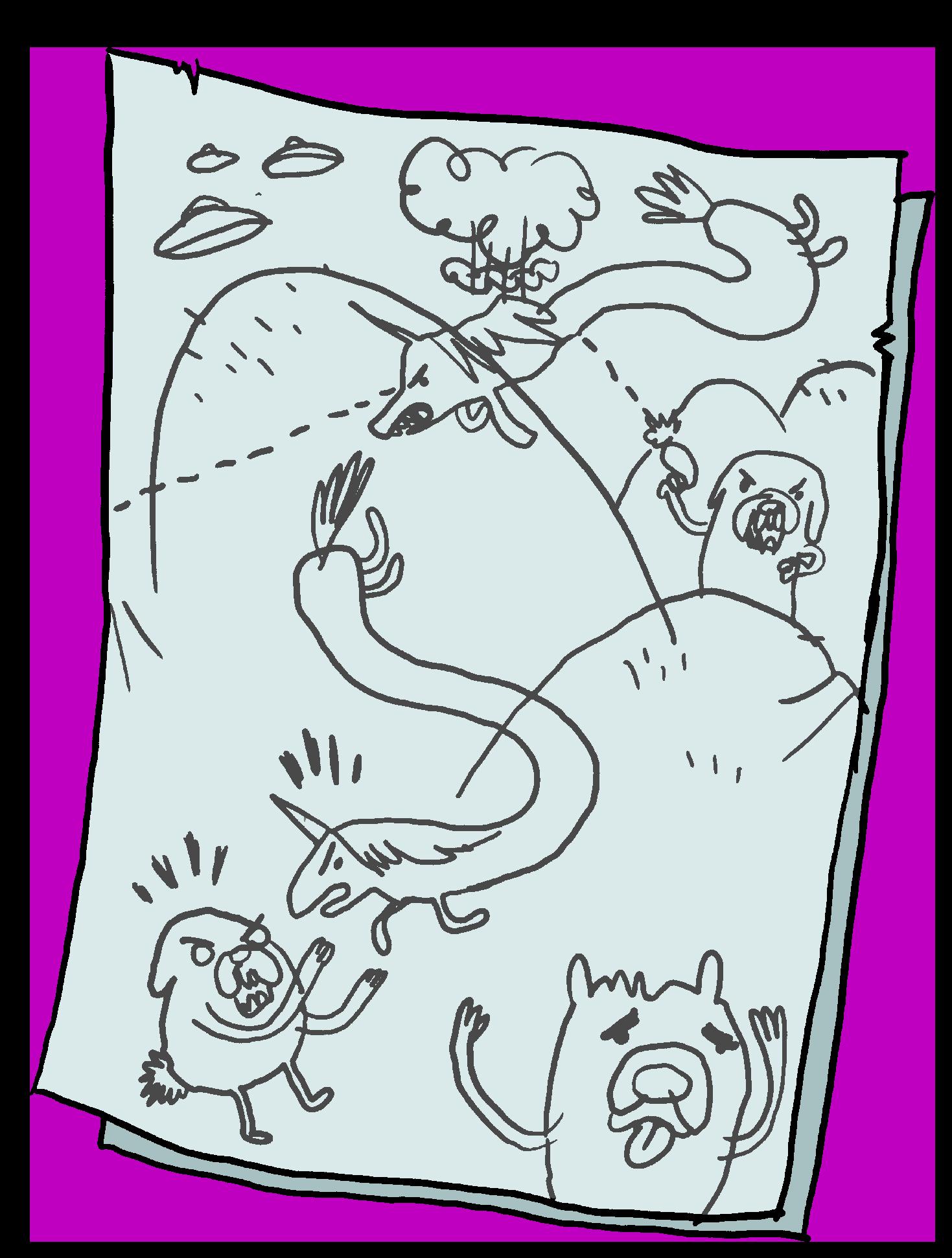 graphic black and white download Adventure drawing. Image rainicorn dog wars