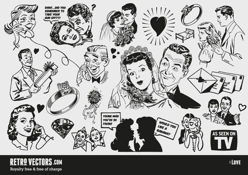 picture freeuse download Advertising clipart 50's.  s retro transparent