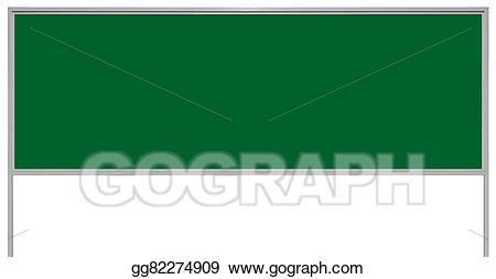 image Stock illustration green metal. Advertising clipart advertisement board