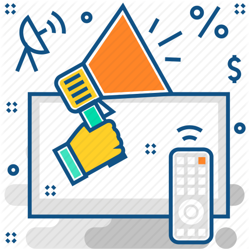clipart library library Advertising clipart broadcast media.  popicon business vol
