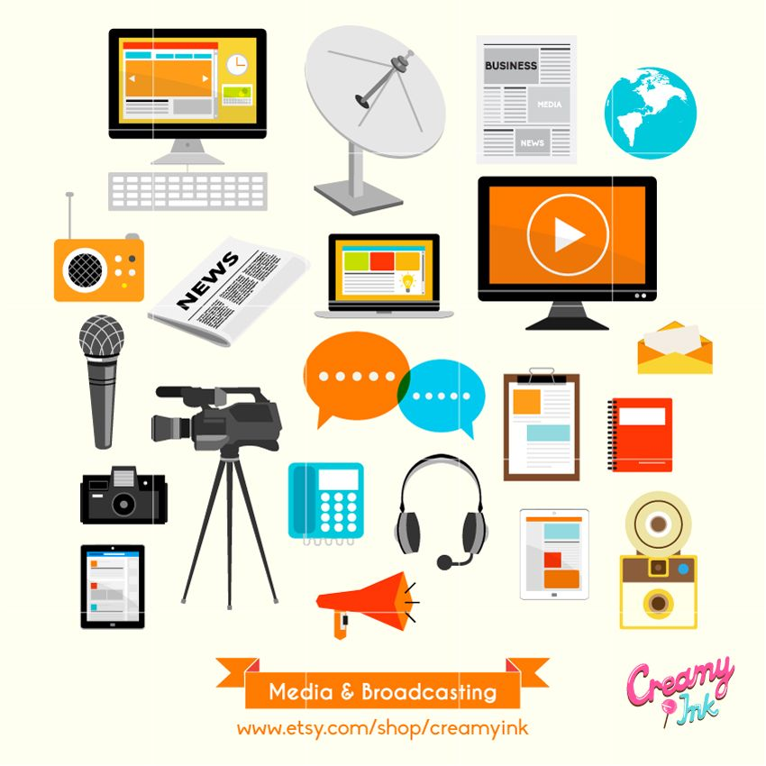picture free library Digital clip art featuring. Advertising clipart broadcast media