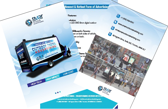clip royalty free stock Smart outdoor . Advertising clipart brochure.