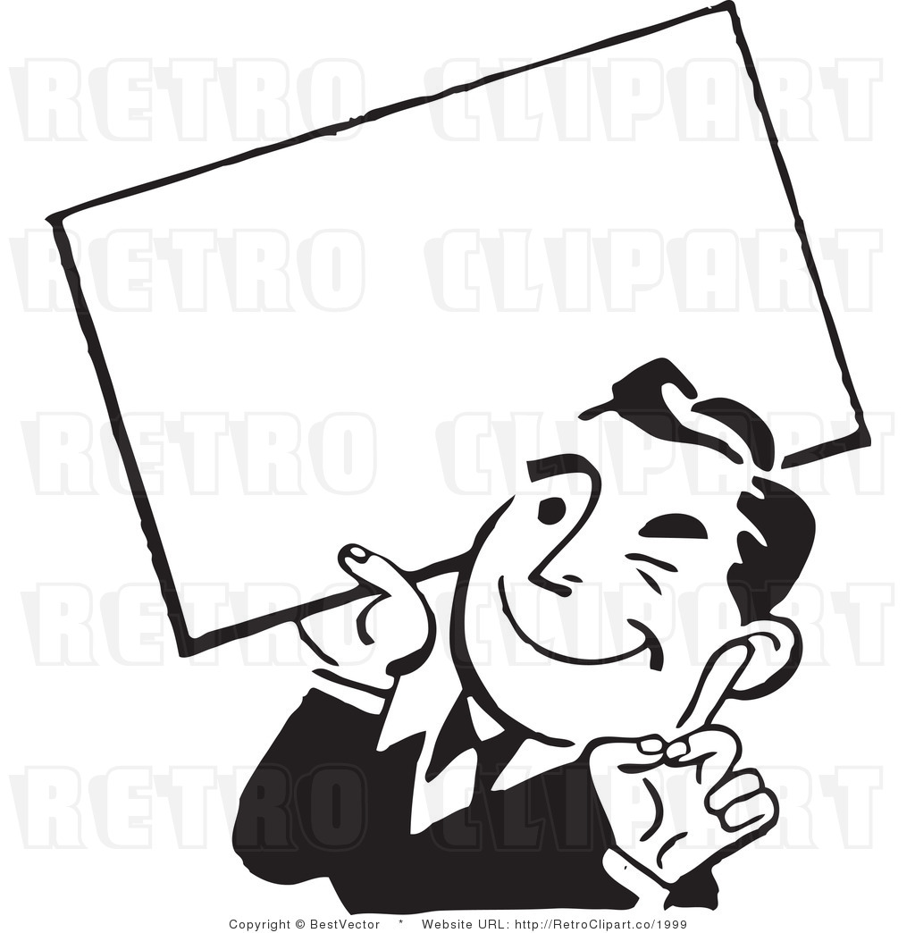 banner black and white download Advertising clipart guy. Free download best