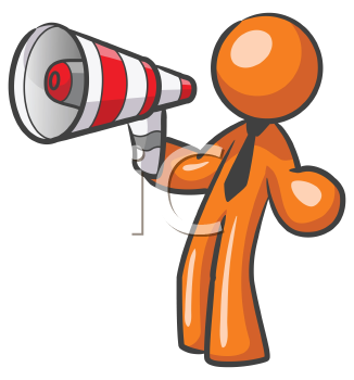 graphic library library Bullhorn illustrations and royalty. Advertising clipart guy