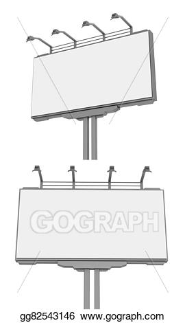 clip library stock Empty advertisement billboard isolated. Advertising clipart hoarding.
