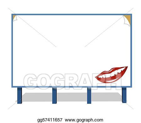 vector stock Vector art advertisement hoarding. Advertising clipart hording