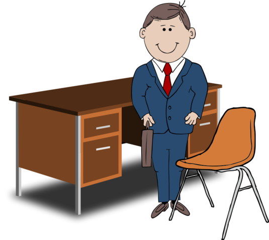 graphic free stock Free teacher between chair. Advertising clipart manager.