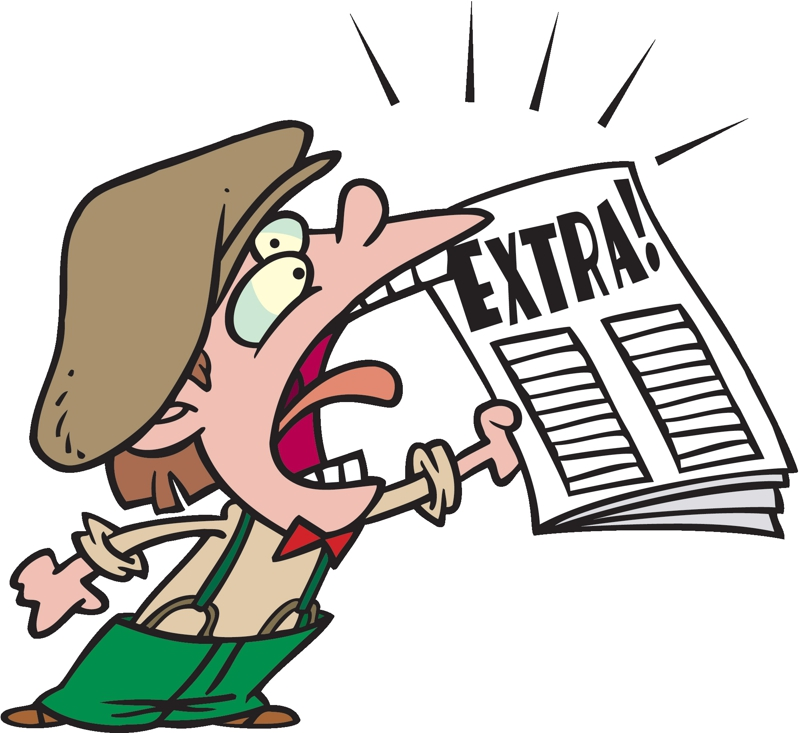 png royalty free library Advertising clipart newspaper vendor. Image gclipart com