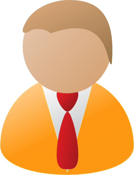graphic freeuse library Teamstijl person icon clip. Advertising clipart orange man