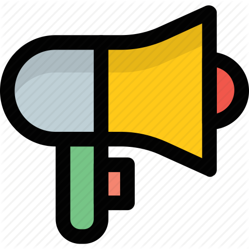 banner download Announcement bullhorn loudspeaker icon. Advertising clipart person megaphone.