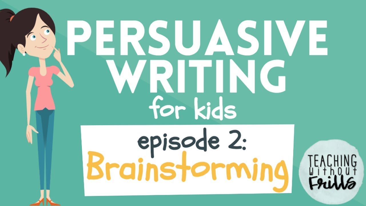graphic royalty free Writing for kids brainstorming. Advertising clipart persuasive text
