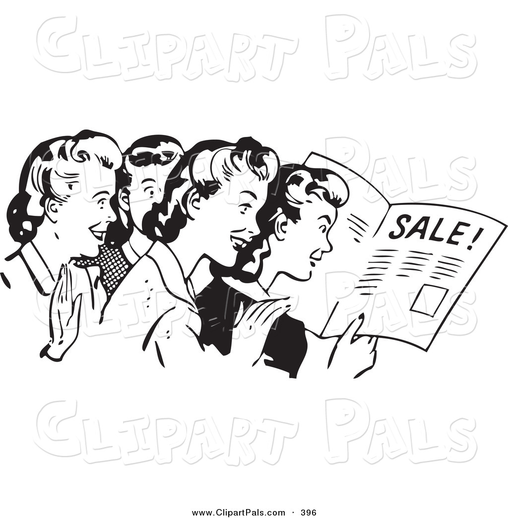 png library stock Advertising clipart retro. Black and white .