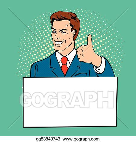 vector download Vector art man with. Advertising clipart style.
