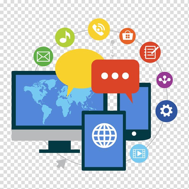 vector transparent Social media marketing network. Advertising clipart transparent