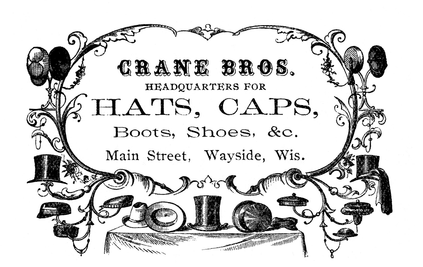 jpg freeuse download Clip art victorian hats. Advertising clipart vintage.