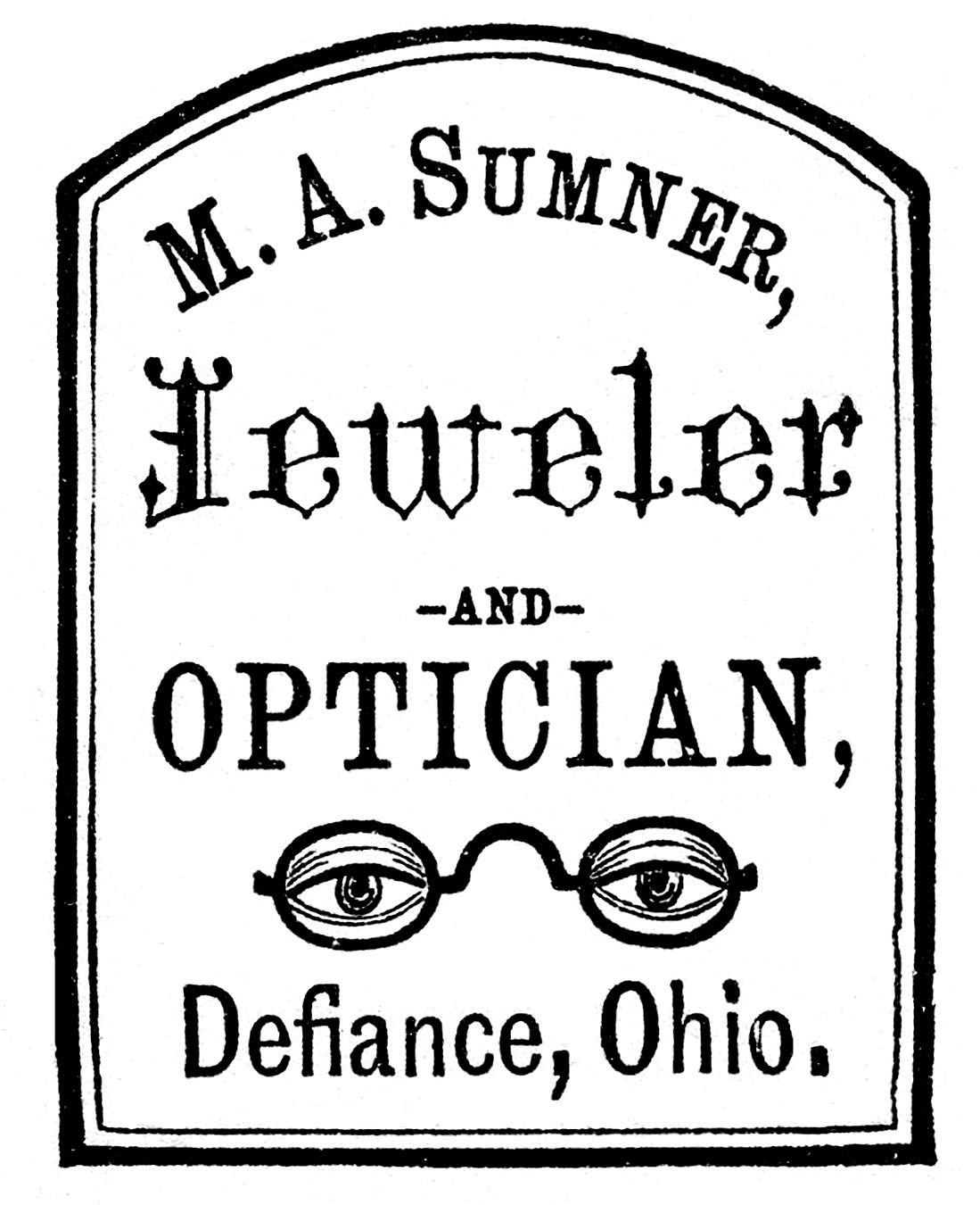 banner freeuse stock Antique clip art optician. Advertising clipart vintage.
