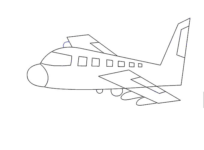 png Aeroplane drawing. Of an airplane yelom