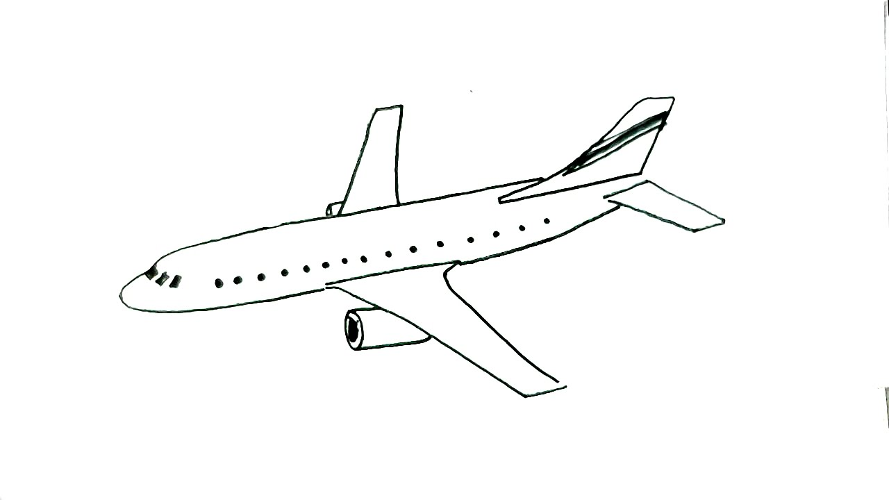 freeuse Aeroplane drawing. How to draw an