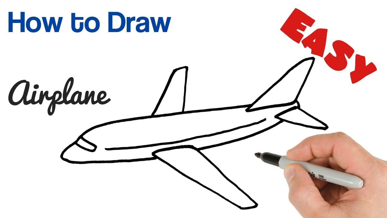 clipart library stock How to draw airplane. Aeroplane drawing