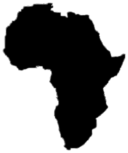 jpg royalty free stock Silhouette clip art just. Africa clipart