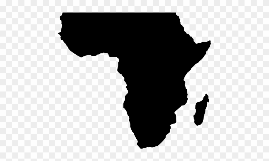png Africa clipart. African map black and.