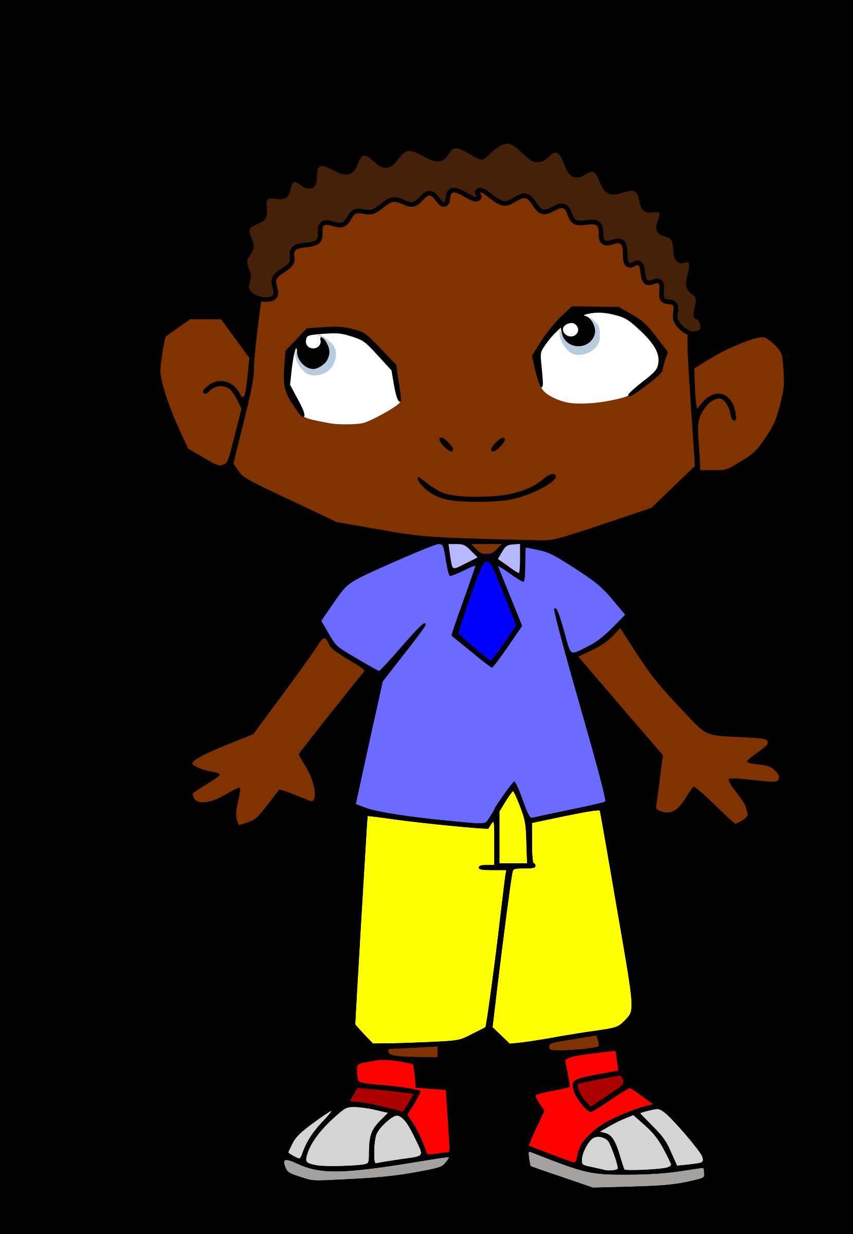 image transparent stock Cartoon boy with rather. Africa clipart creative