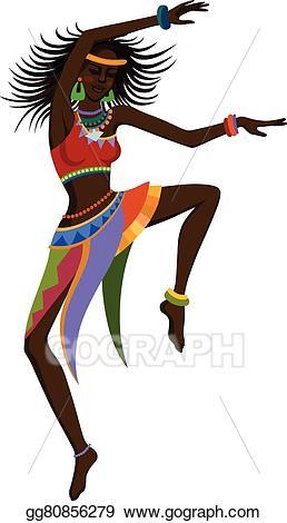 vector library Africa clipart dancing. African dancer