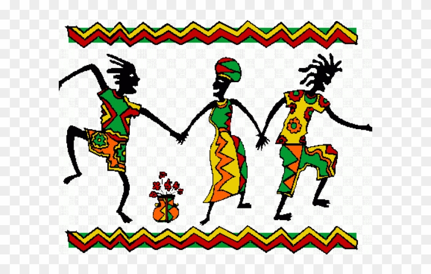 clipart black and white Africa clipart dancing. Group dance african transparent