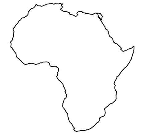 image black and white download Outline design pinterest outlines. Africa clipart map african