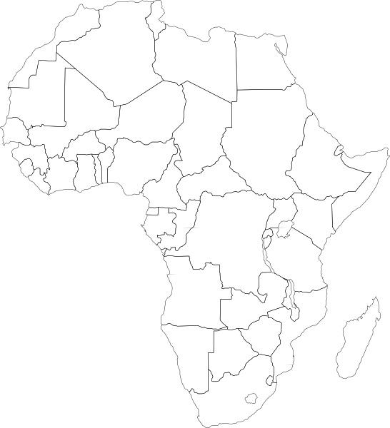 clipart free library Africa clipart map african. Of drawing at getdrawings