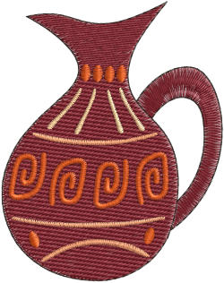 clip art freeuse stock Africa clipart pottery african. Pot embroidery design http
