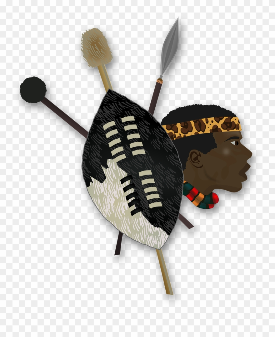 clip transparent download Folklore shield africa african. Spear transparent zulu