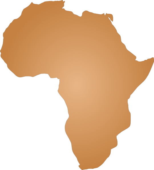svg royalty free library Africa Outline Clip Art at Clker