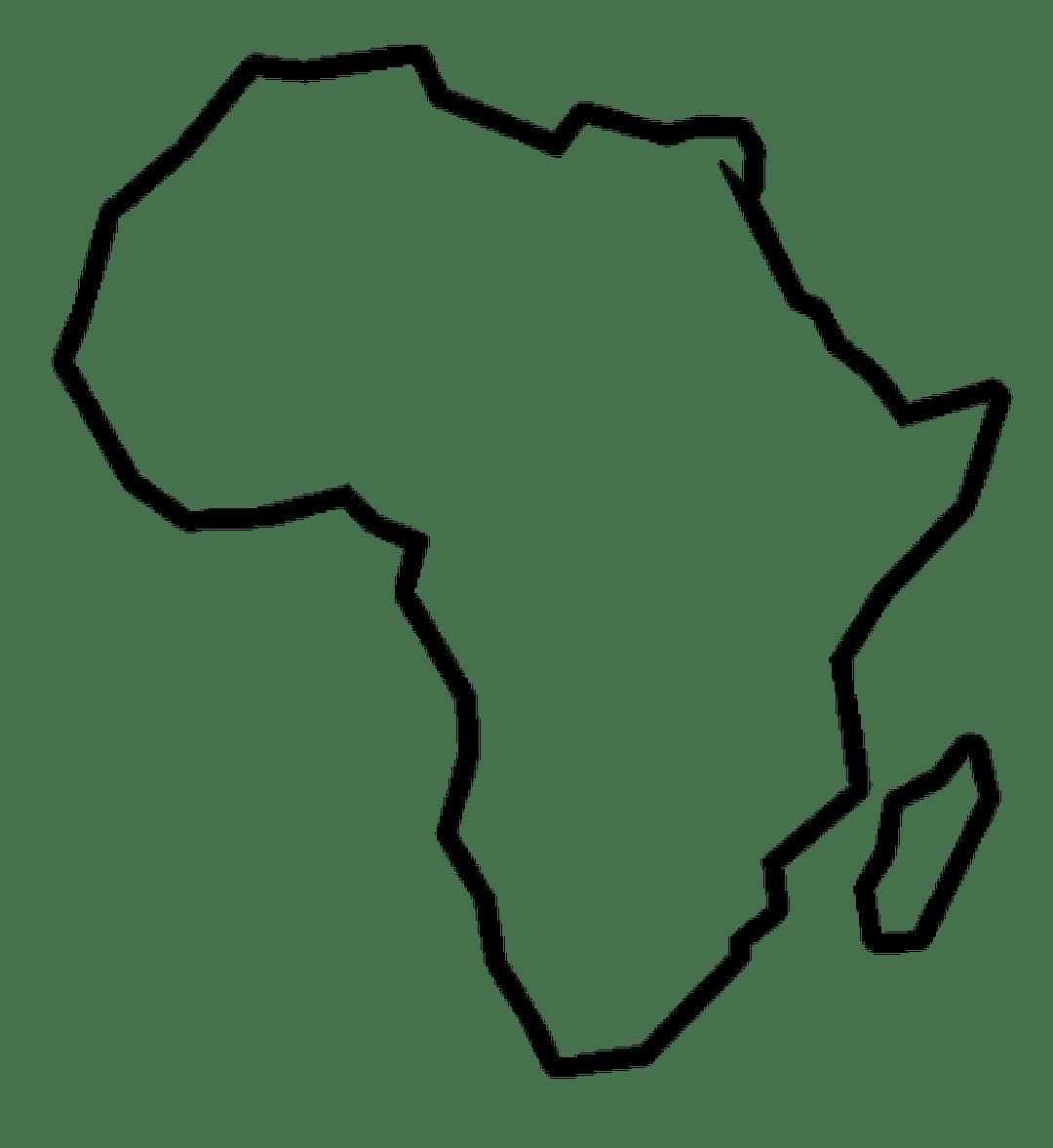 clip art africa transparent outline #88789245