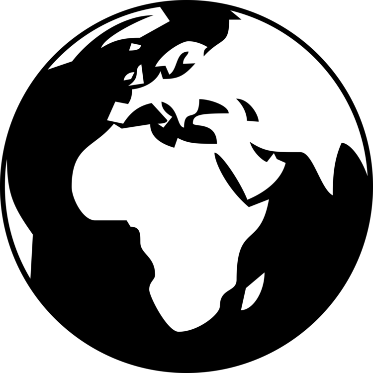 svg black and white library Globe drawing computer icons. Earth svg simple