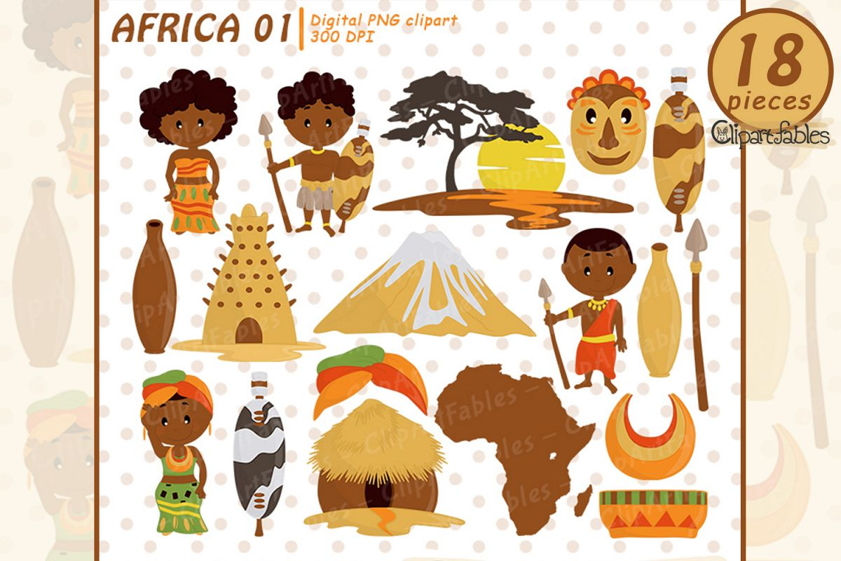 image royalty free stock African clipart. Travel art zulu tribe